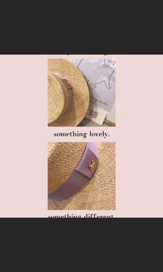 Pazzo韓國質感緞帶編織草帽