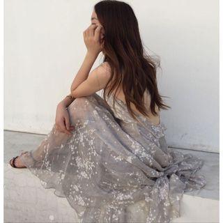 夢幻流光美背紗裙洋裝❤️