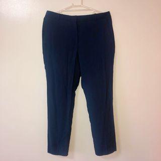 Mango Navy Blue Suit Trousers