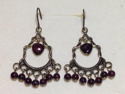 DIY 半寶石復古耳環  每款同價
