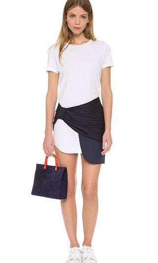 全新 Jacquemus Asymmetric layer skirt 半腰拼接短裙 sacai