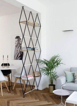 Diamond shelving units