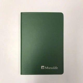 BN Manulife A5 Hard Cover Dark Green Faux Leather Line Notebook Journal