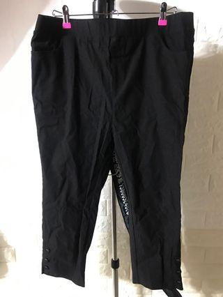 全新 4XL 黑色修身褲 橡根腰 包郵