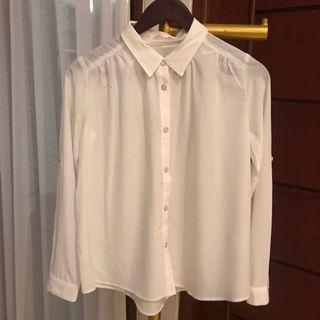 Collar long blouse (100 dpt 3)