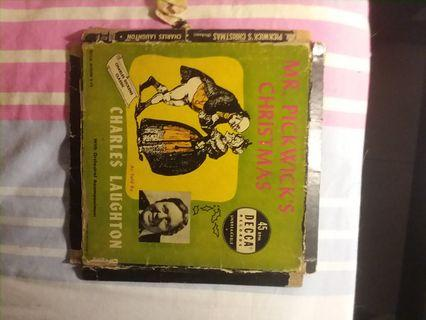 45 RPM Vinyl Record Mr. Pickwick's Christmas