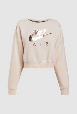Almost new Nike pink air crop sweater