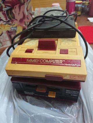 90年代 中古 仼天堂 紅白機+磁碟機 收藏多年,不知好壞,圖片有咩就有咩 絕版
