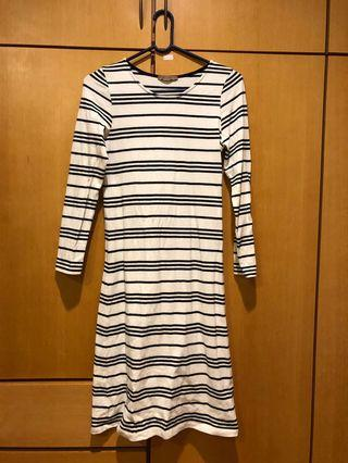 🚚 Pazzo 橫條紋長袖休閒洋裝/長版洋裝