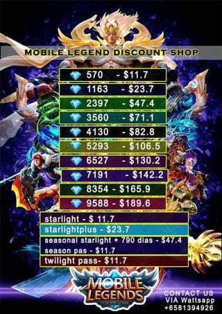 Discounted Mobile Legends Dianonds