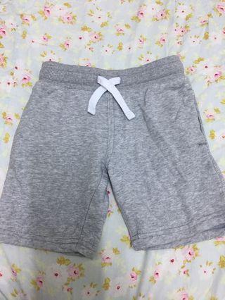H&M棉短褲 灰色