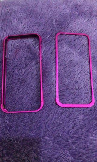 bumper stanless iphone 5 (purple)