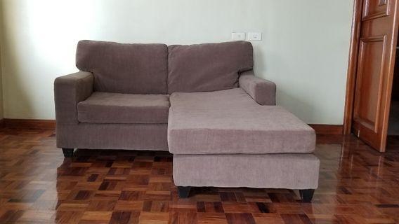 Sofa with large ottoman