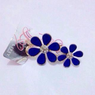 BNWT ASOS Lipsy Cobalt Blue Daisy Double Ring