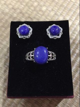Lapis Lazuli Ring and Earstuds