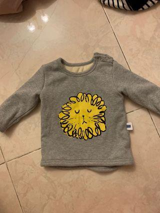 Fleece Long sleeve top for 6-18months (size 73)