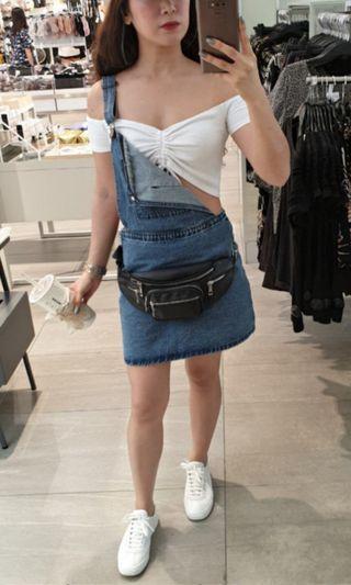 Cotton On denim jumper skirt