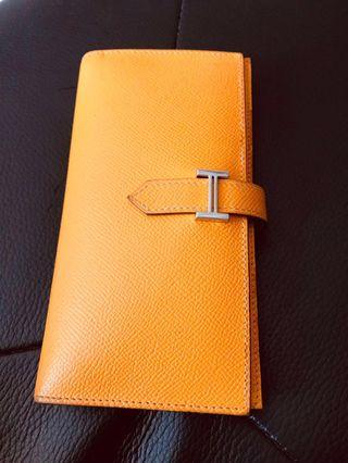Hermes Abricot Bearnes Classic long wallet (reduced to clear)