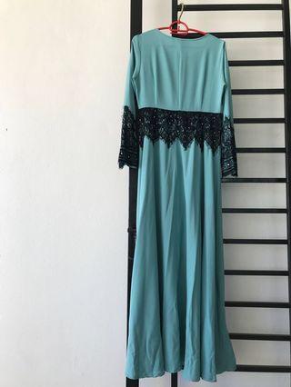 Zawara Jubah (Turquoise)