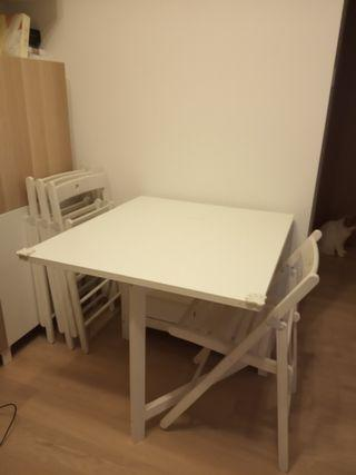 餐桌連摺椅