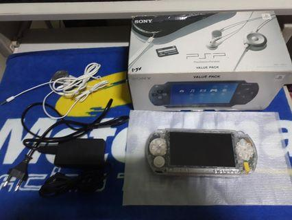 Transparent Sony PSP 1000 modded with value box ( Rare)