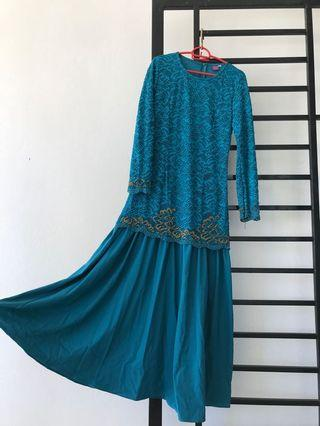 Turquoise lace jubah👗