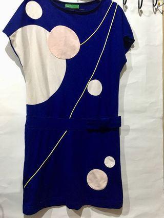 🚚 米奇抽象圖案無袖棉質長洋裝