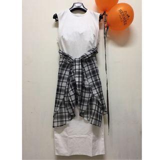 ZARA 白色 修身曲線洋裝