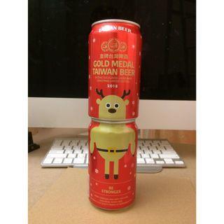 🚚 (兩個合售) 金牌台灣啤酒 麋鹿包裝(限量罐)