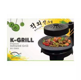 🚚 K-GRILL KG-3381G Indoor Smokeless Korean Infrared Grill
