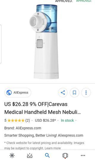 Carevas nebulizer 90% new.