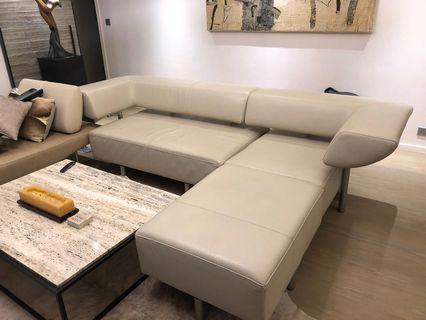Designer Large Beige Sectional Sofa