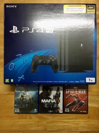 💯PS4 PRO 1TB 4K HDR WITH 9 FREE GAMES💯