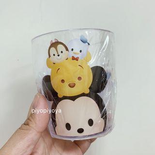 🚚 全新 日本帶回 Disney 迪士尼 tsumtsum 水杯 透明塑膠杯 漱口杯