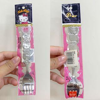 🚚 全新 日本帶回 kitty造型叉子 不鏽鋼叉具