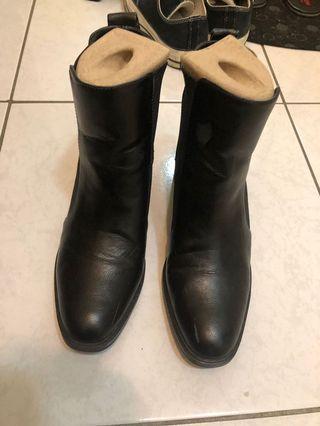 🚚 Zara 踝靴 黑色 中根 24cm