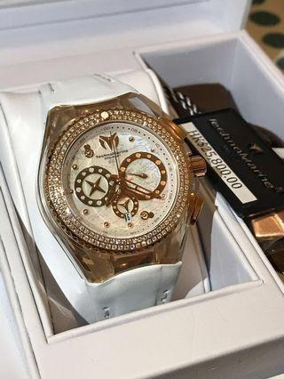 全新 Technomarine Diamond Watch 18k 真鑽石 女裝 手錶 瑞士 1卡鑽石 情人節 聖誕禮物 生日禮物 原價$25800
