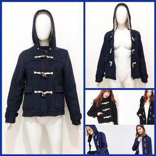 Navy duffle wool coat / jacket