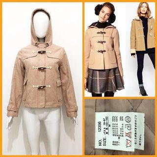 Japan Beige duffle wool coat / jacket
