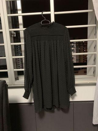 PENDING Zara mesh babydoll dress