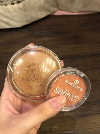 Catrice Sun Glow Bronzer + ESSENCE Blush On