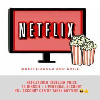 (NetflixDulu's Reseller) 5 Netflix Personal Premium Account
