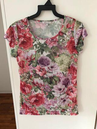 Cap Sleeve Floral Top