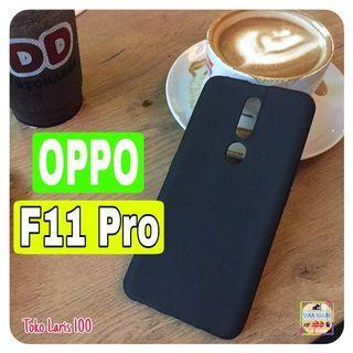 Softcase Black Matte Oppo F11 Pro - Softshell Slim Matte