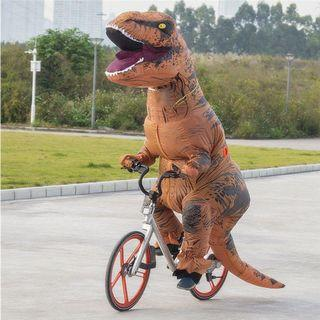 Adult Sized T-Rex Costume w. Fan for Parties and Events