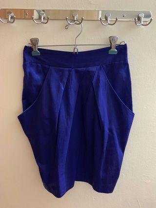 Topshop Electric Blue Skirt