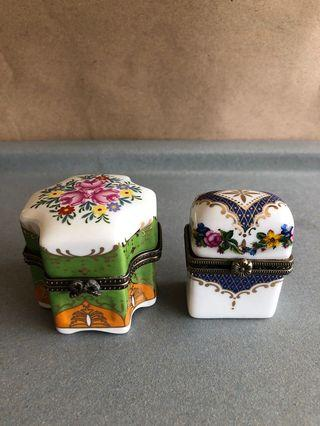 10多年購自London Portobello Market 堅硬瓷盒(連玻璃樽仔)