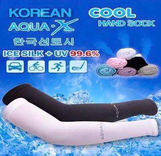 Korean Brand Sport Compression Arm Sleeves AquaX UV protection