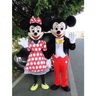 🆕 Mickey & Minnie Mouse Mascot Costume #MHB75