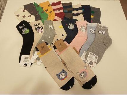 韓國女裝成人中筒襪 (隨機5對)